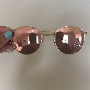 RayBan Round Copper Flash Lenses